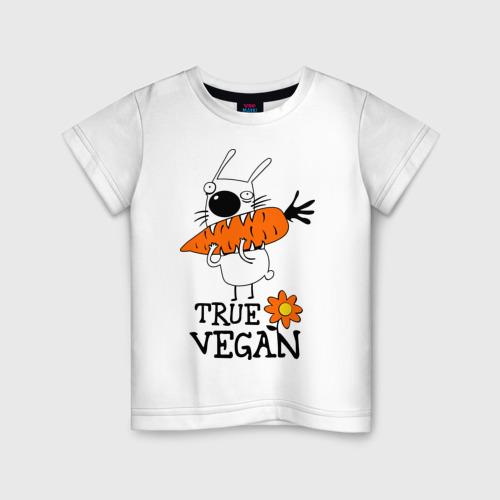 Детская футболка хлопок True vegan (истинный веган)