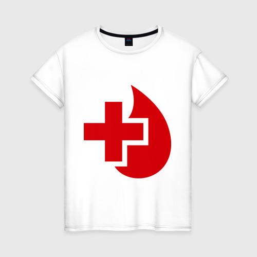 Женская футболка хлопок Донор