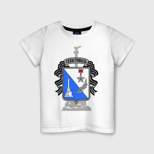 Детская футболка хлопок Герб Севастополя