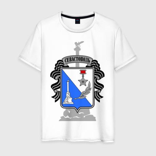 Мужская футболка хлопок Герб Севастополя