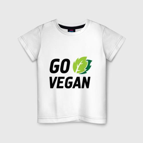 Детская футболка хлопок Go vegan