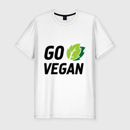 Мужская футболка хлопок Slim Go vegan