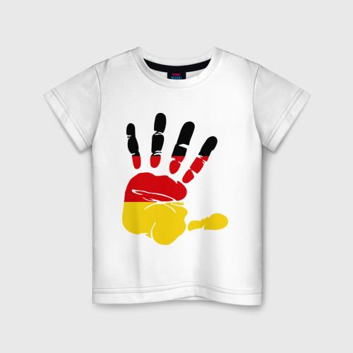 Детская футболка хлопок Рука Германии