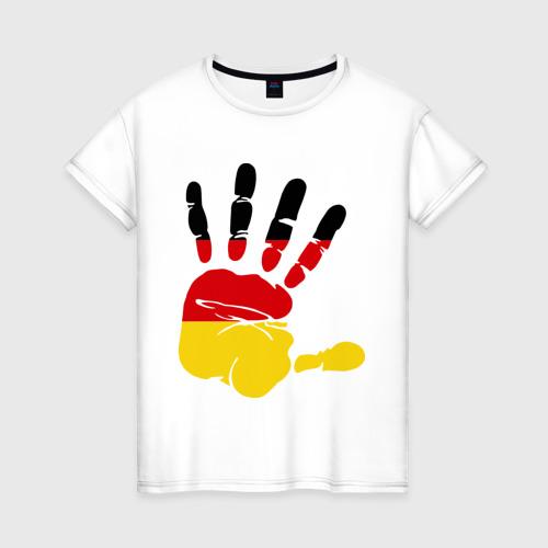 Женская футболка хлопок Рука Германии