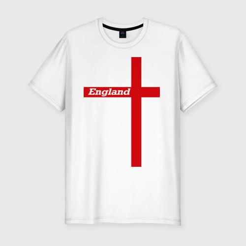 Мужская футболка хлопок Slim Сборная Англии