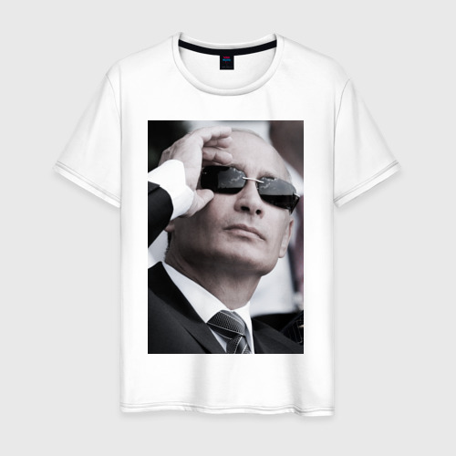 Мужская футболка хлопок Путин в очках