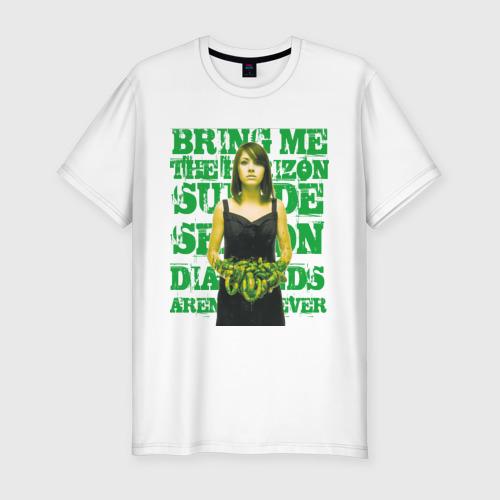 Мужская футболка хлопок Slim Bring me the horizon