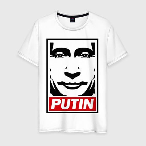 Мужская футболка хлопок Putin (Путин)