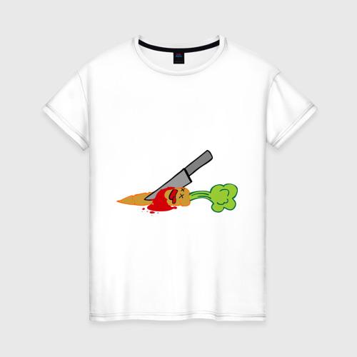 Женская футболка хлопок Морковь