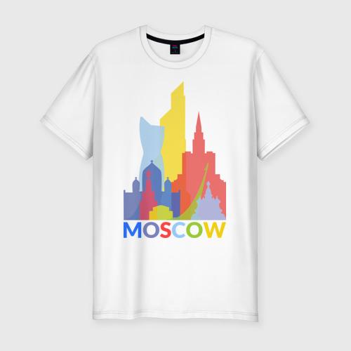 Мужская футболка хлопок Slim Moscow (Москва)