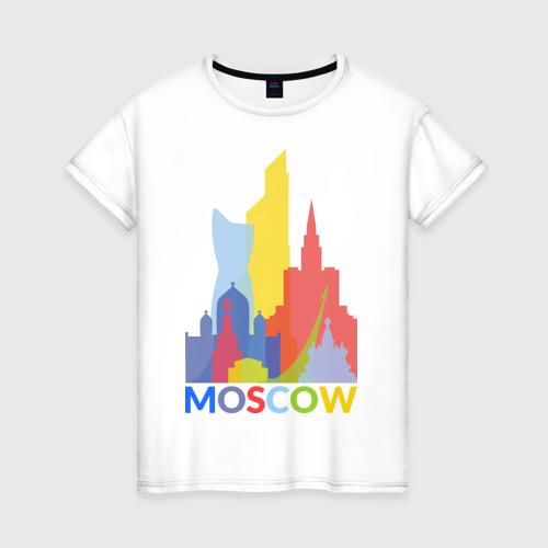 Женская футболка хлопок Moscow (Москва)
