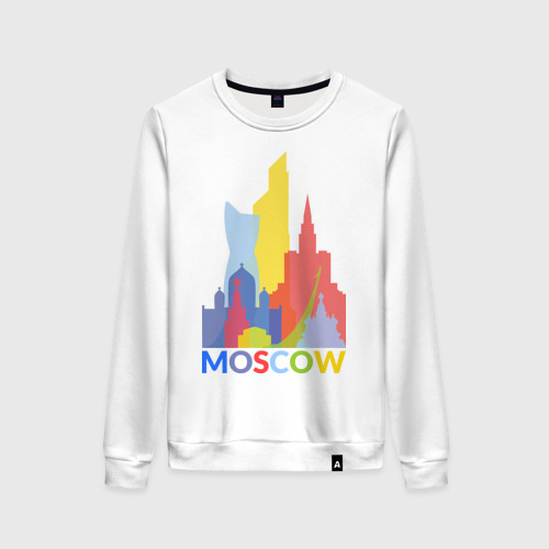 Женский свитшот хлопок Moscow (Москва)