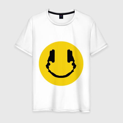 Мужская футболка хлопок Smile Music