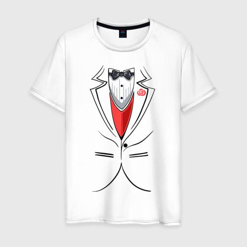 Мужская футболка хлопок Костюм жениха