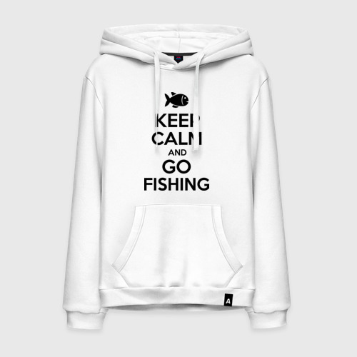 Мужская толстовка хлопок Keep calm and go fishing