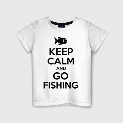 Детская футболка хлопок Keep calm and go fishing