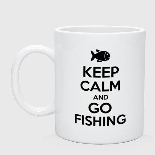 Кружка керамическая Keep calm and go fishing