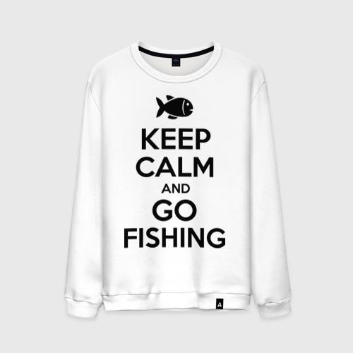 Мужской свитшот хлопок Keep calm and go fishing