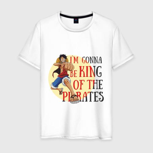 Мужская футболка хлопок I`m gonna be king of the pirates