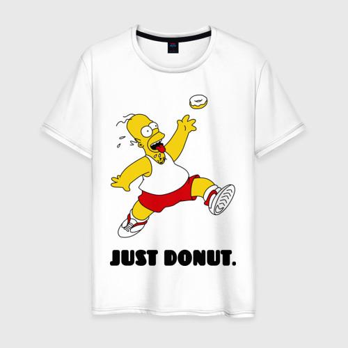 Мужская футболка хлопок Гомер Симпсон - Только пончик