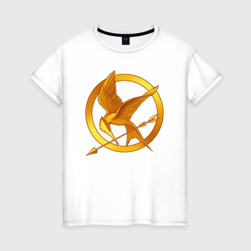 Женская футболка хлопок Голодные игры