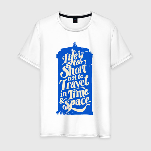 Мужская футболка хлопок Travel in time
