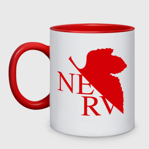 Кружка двухцветная Евангелион NERV