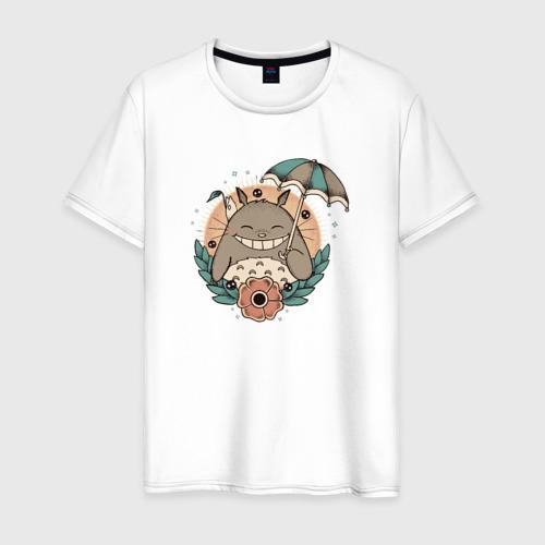 Мужская футболка хлопок Smile Totoro