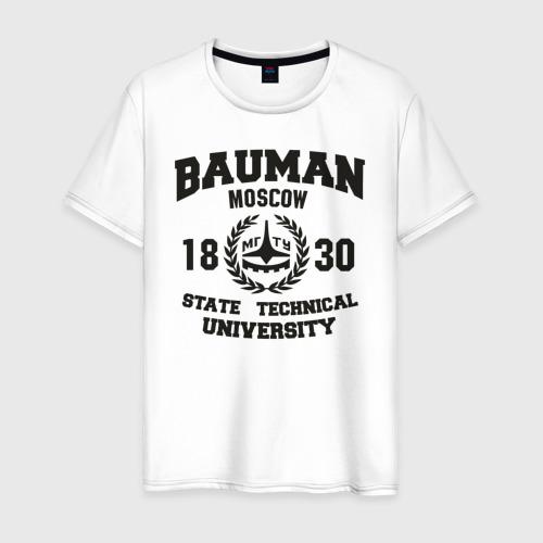 Мужская футболка хлопок Университет Баумана