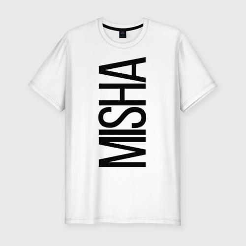 Мужская футболка хлопок Slim Миша