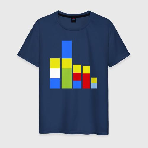 Мужская футболка хлопок Симпсоны кубики