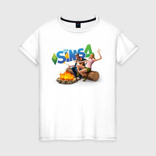 Женская футболка хлопок Костер