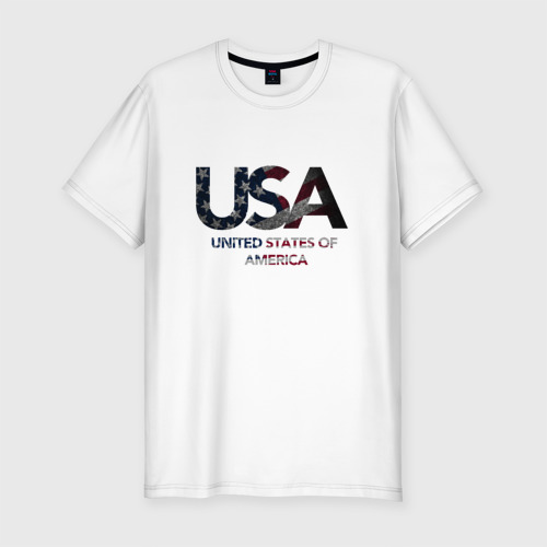 Мужская футболка хлопок Slim USA