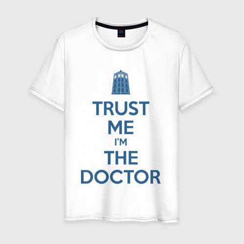Мужская футболка хлопок Trust me I'm the doctor