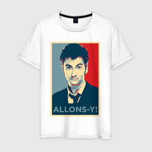 Мужская футболка хлопок Десятый доктор Allons-y!