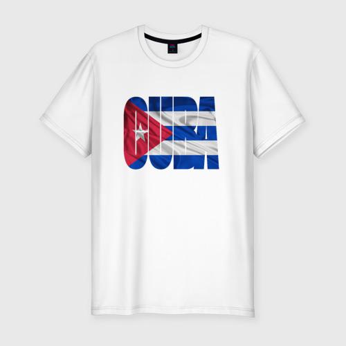 Мужская футболка хлопок Slim Куба