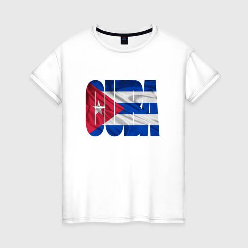 Женская футболка хлопок Куба