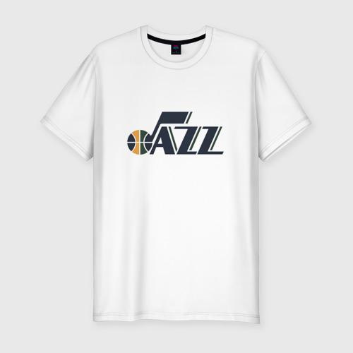 Мужская футболка хлопок Slim NBA Utah Jazz