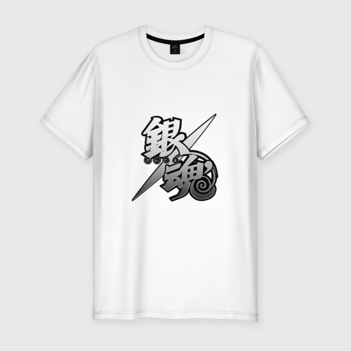 Мужская футболка хлопок Slim Gintama hierogliph