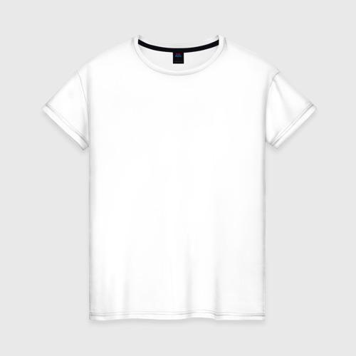 Женская футболка хлопок Знак клана Учиха на спине