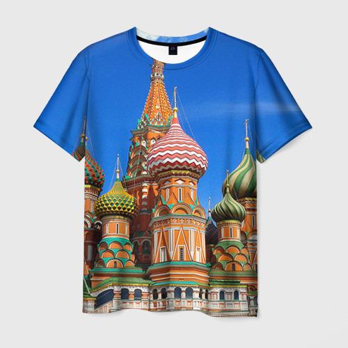 Мужская футболка 3D Храм Василия Блаженного