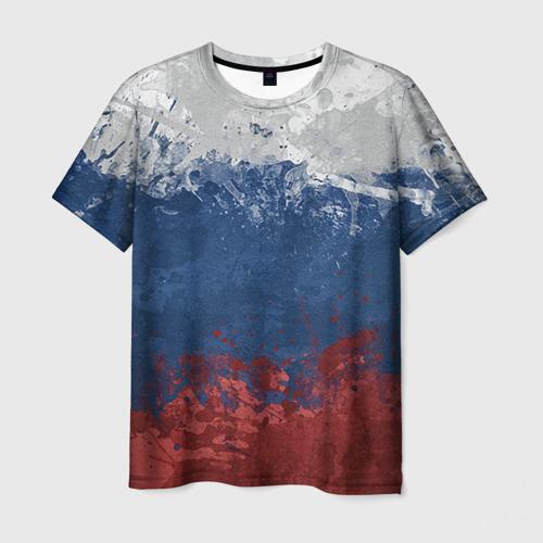 Мужская футболка 3D Флаг России