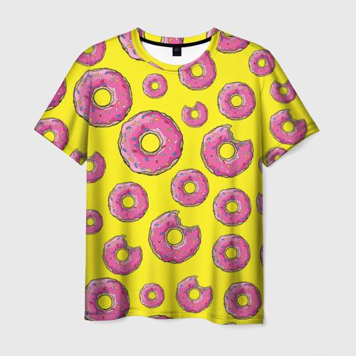 Мужская футболка 3D Пончики