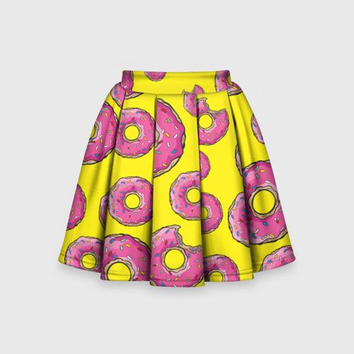 Детская юбка-солнце 3D Пончики