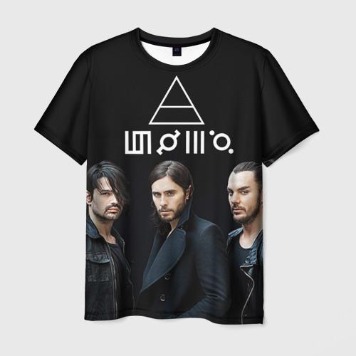 Мужская футболка 3D 30 seconds to mars