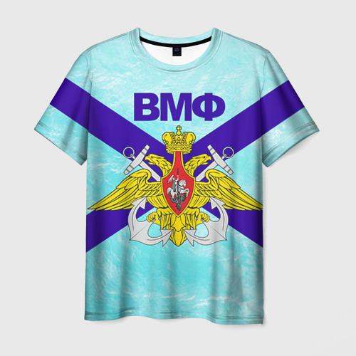 Мужская футболка 3D ВМФ России