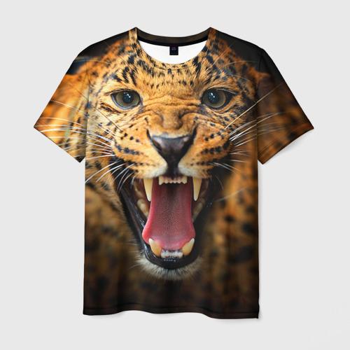 Мужская футболка 3D Леопард