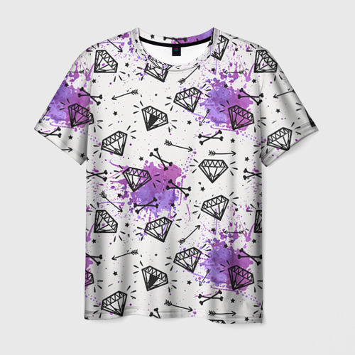 Мужская футболка 3D Стрелы и алмазы