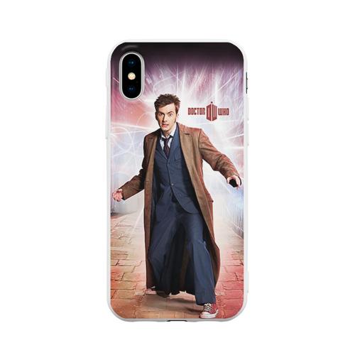 Чехол для iPhone X матовый Доктор кто