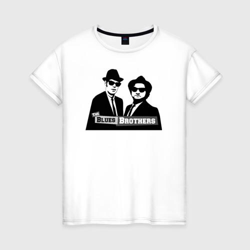 Женская футболка хлопок Братья блюз